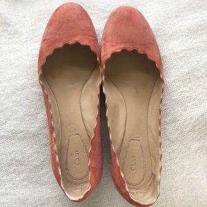 Chloe Suede Ballet Flats